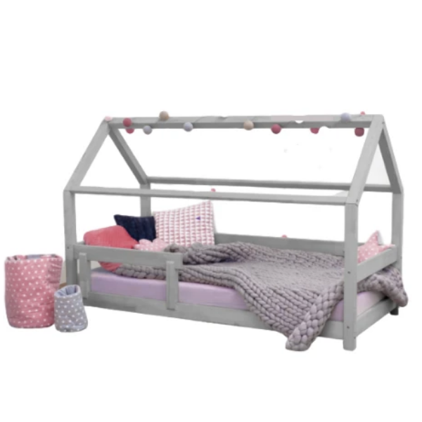 Tery - Kids House Bed with Guard Rail
