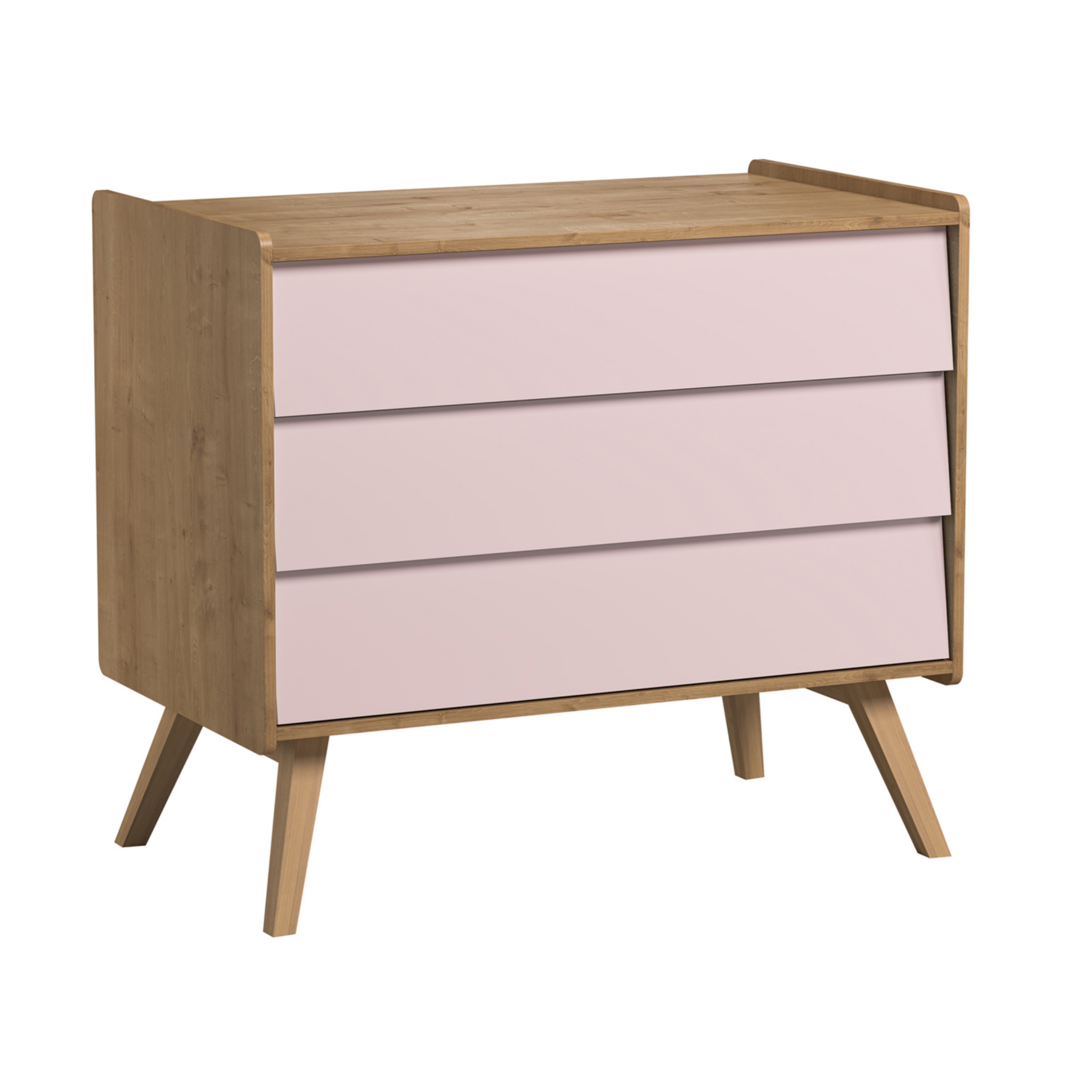Vintage - Chest of Drawers in Oak & 5 Pastel Colours