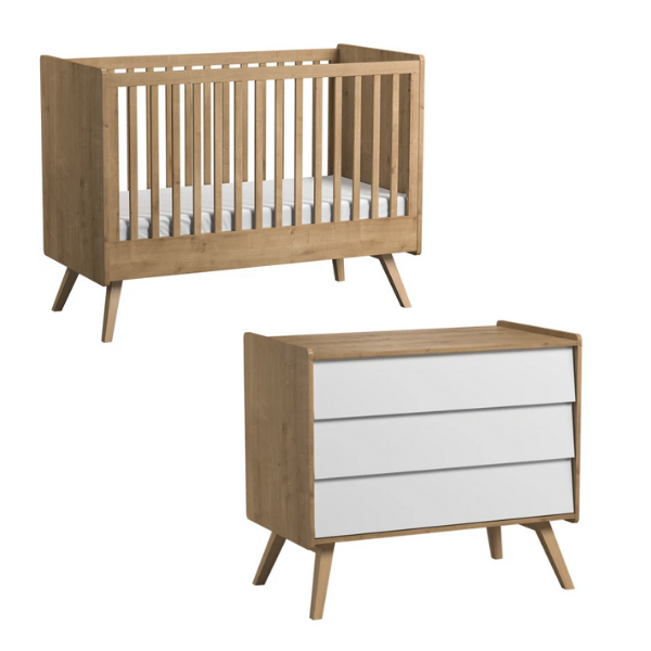 Vintage 2 Piece Cot Nursery Set