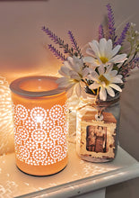 Load image into Gallery viewer, Blush Pink Flower Cut Out Warmer ~x~