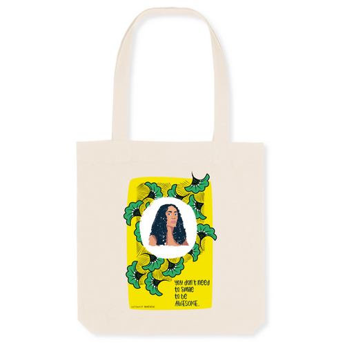 Totebag Awesome en coton bio