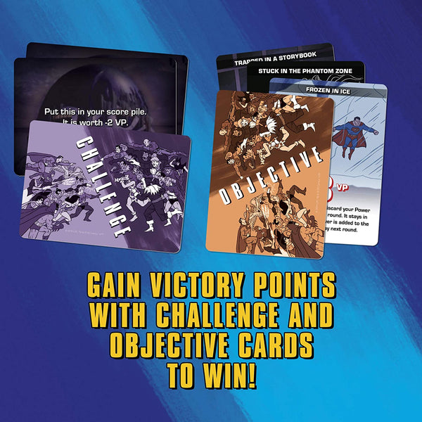 Challenge of the Superfriends - Gain Victory Points with Challenge and Objective Cards to Win!