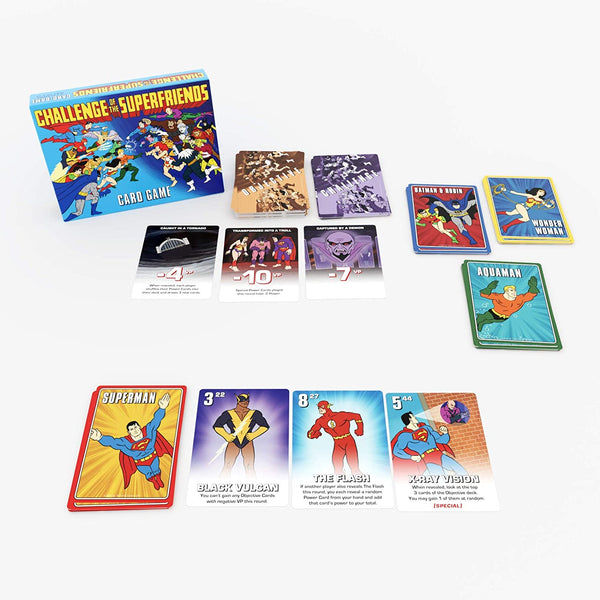 "Based on the classic animated TV show, Challenge of the Superfriends Card Game uses Cryptozoic's ""Gryphon"" card game engine to deliver a simultaneous, easy-to-learn tabletop experience - Challenge of the Superfriends"