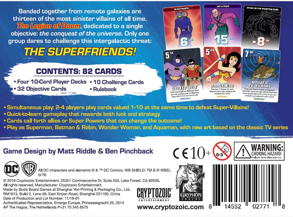 Challenge of the Superfriends - take on the challenge of thirteen of the most sinister villains of all time.