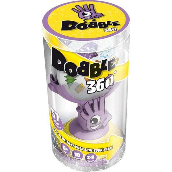 Dobble 360 is an exciting card game of speedy observation for kids and adults alike. Players compete with each other to find the matching symbol between one card and another.