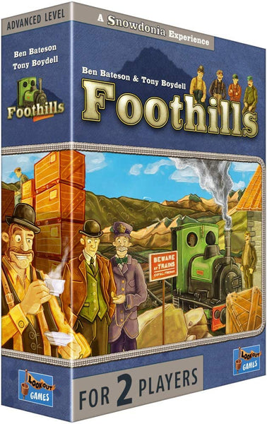 Foothills is a tactical and intriguing two-player card game from new designer Ben Bateson and the designer of Snowdonia, Tony Boydell.