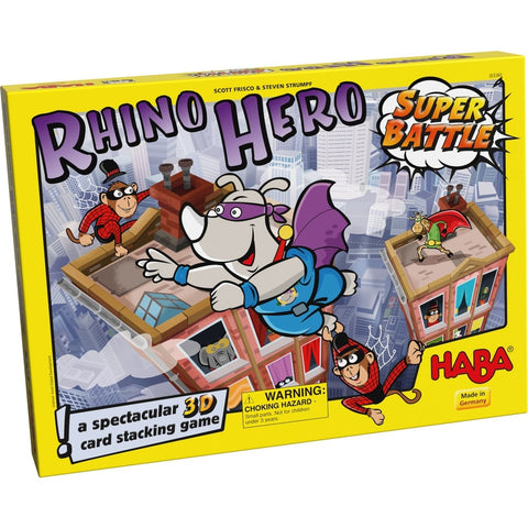 HABA Rhino Hero Super Battle for age 5 years and older. BoardHoarders