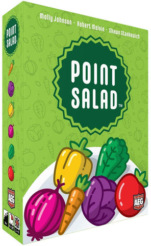 Point Salad is a fast and fun card drafting game for the whole family.
