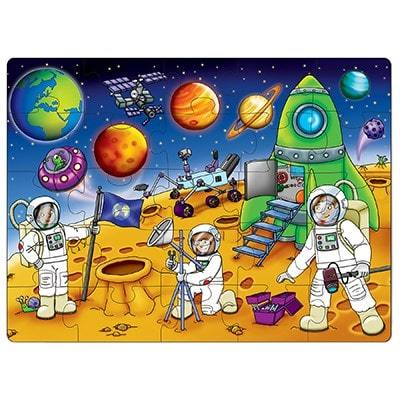 Learn about space in this fun cosmic jigsaw puzzle by Orchard Toys!