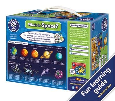 Whos in Space Jigsaw - he talkabout puzzle also includes an activity guide to stimulate discussion and encourage children's development.