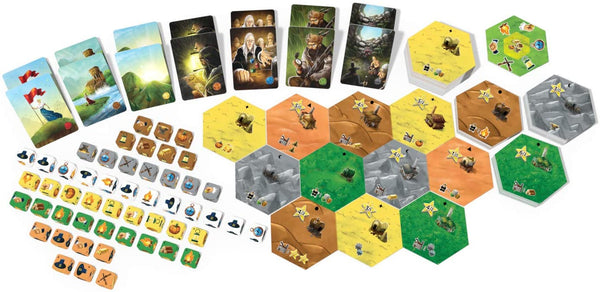 Dice Settlers is a civilization dice game of pool building, resource gathering and area control.
