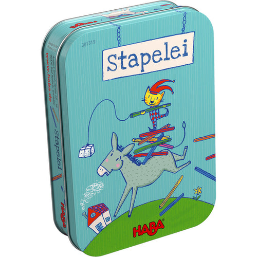 Stapelei by HABA is a brilliant stacking game, packaged in a handy tin, great for ages 4+