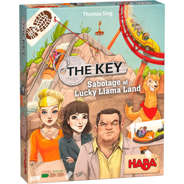 HABA The Key Sabotage At Lucky Llama Land - Deduction Murder Mystery Game. BoardHoarders