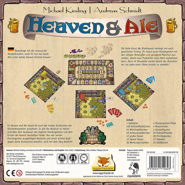 Michael Kiesling, and Andreas Schmidt Heaven and Ale board game