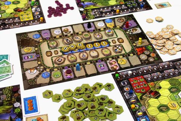 Heaven and Ale - lead an ancient monastery and its brewery to victory by brewing the best beer possible. Players must strike a fine balance between upgrading the cloister's garden and harvesting resources to fill barrels