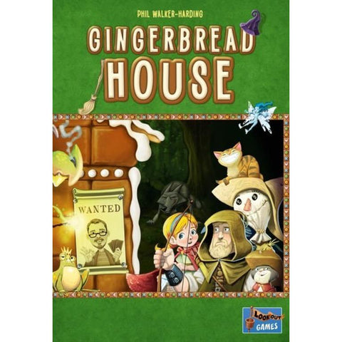Gingerbread House - Nibble, Nibble, Gnaw - who is building at my little house? Bake tasty treats to tempt fairy-tale characters who keep trying to eat your house in this great game by Lookout Games.  Once upon a