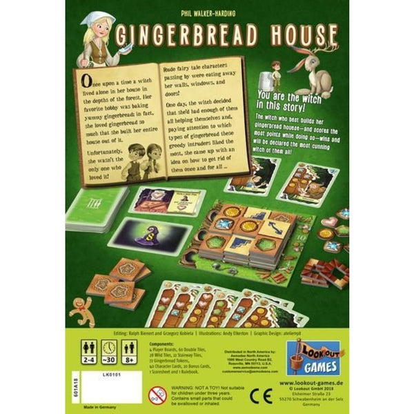 Gingerbread House Board Game by Lookout Games great for age 8 and up