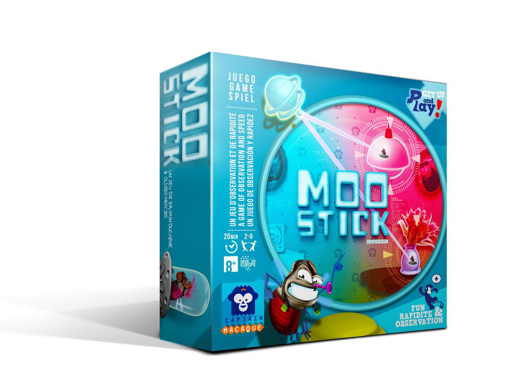 Moo Stick by Captain Macaque - Aliens from the planet Moo are planning to invade the Earth! You are the captain of a squadron of gluing saucers and your mission is to prepare for the great invasion by searching the home of these strange humans.