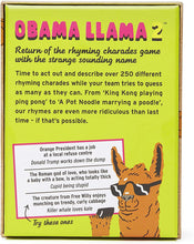 Load image into Gallery viewer, Obama Llama 2- return of the rhyming charades game with the strange sounding name