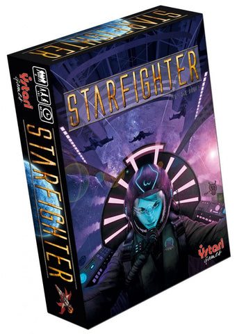 Starfighter is a two-player-only game of space combat in which each player tries to assemble card combinations that deliver effective attacks on the opponent.