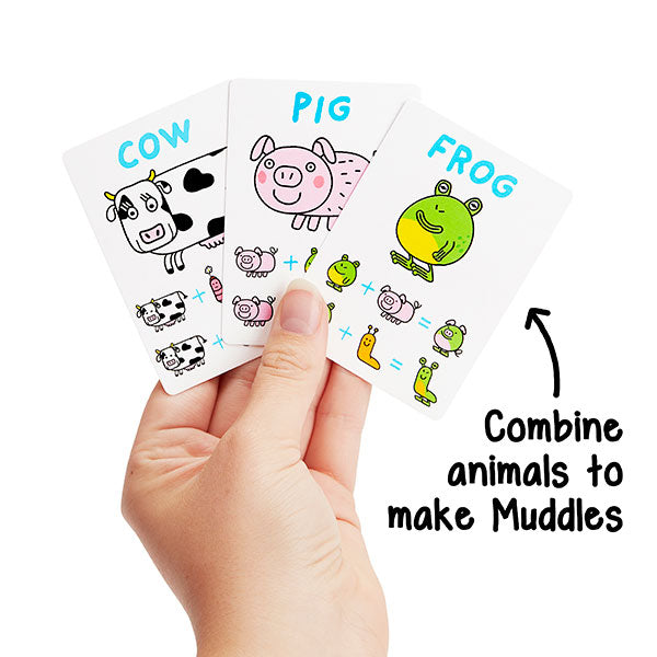 Combine animals to make Muddles in the fun card game The Muddles by Big Potato