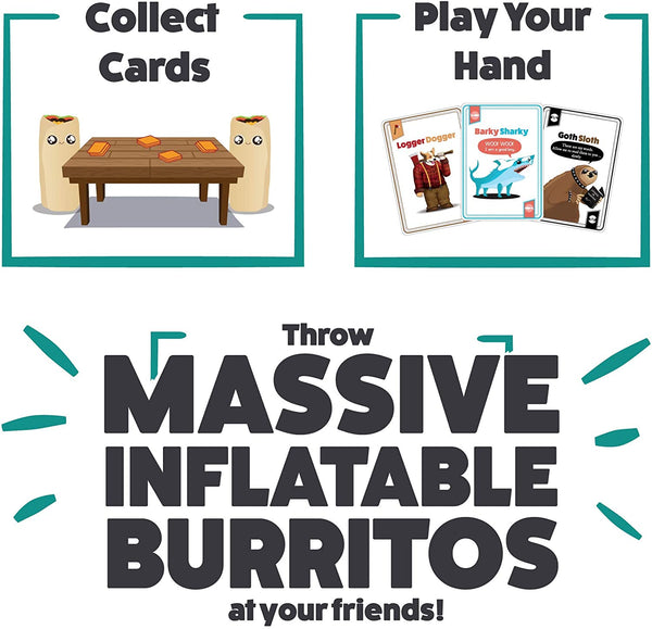 Throw Throw Burrito: Extreme Outdoor Edition with massive inflatable burritos