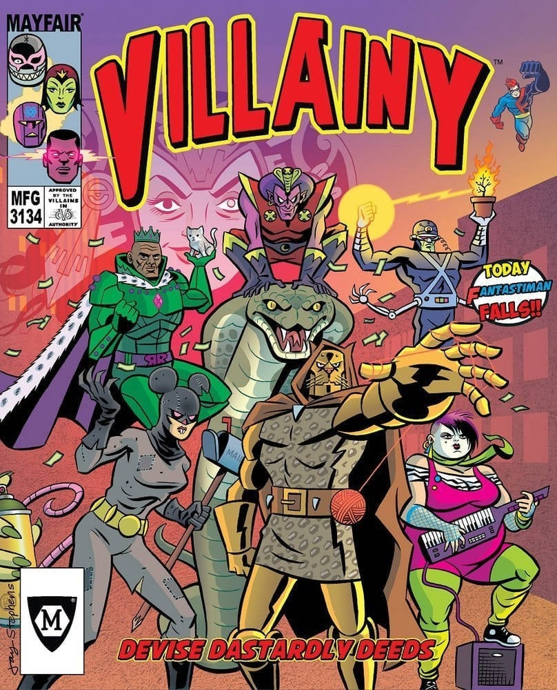 Villainy - Devise Dastardly Deeds Board Game - Boardhoarders