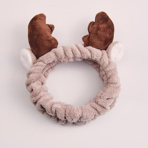 #FaceMaskFriday Holiday Reindeer Antler Headband