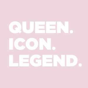 QUEEN. ICON. LEGEND. PINK! T-shirt