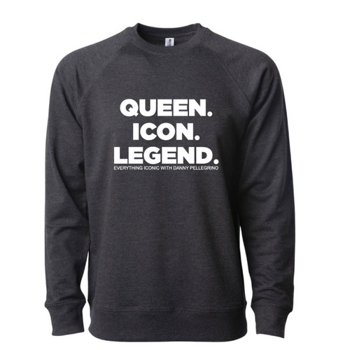 QUEEN. ICON. LEGEND. - Long-sleeve Lightweight Pullover