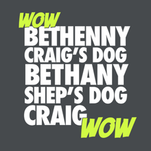 Load image into Gallery viewer, WOW Bethenny Craig's Dog Bethany Shep's Dog Craig WOW
