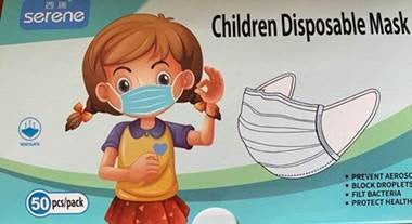 Children Disposable Mask, box of 50