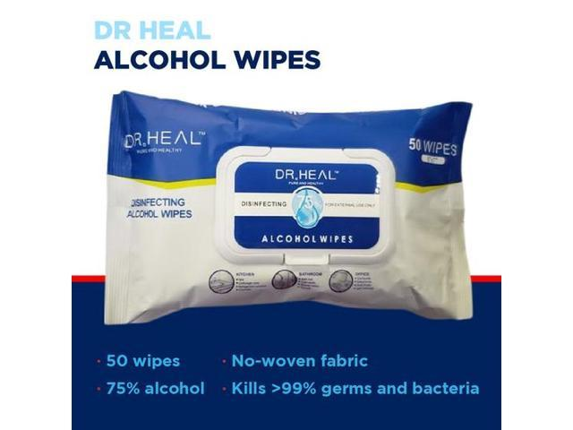 75% Disinfecting Alcohol Wipes (Pack of 50 wipes)