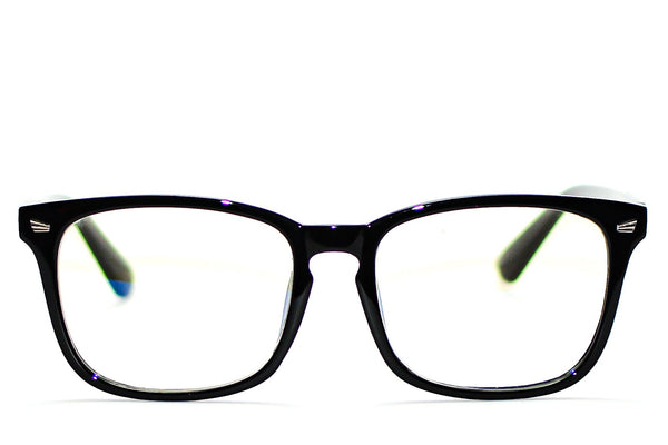 BRIGHT BLACK UNISEX BLUE LIGHT BLOCKING GLASSES