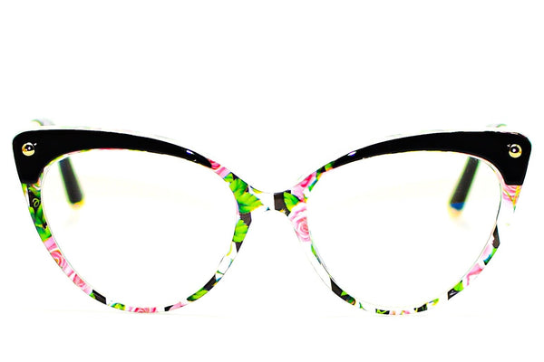 FLORAL CAT EYE BLUE LIGHT BLOCKING GLASSES