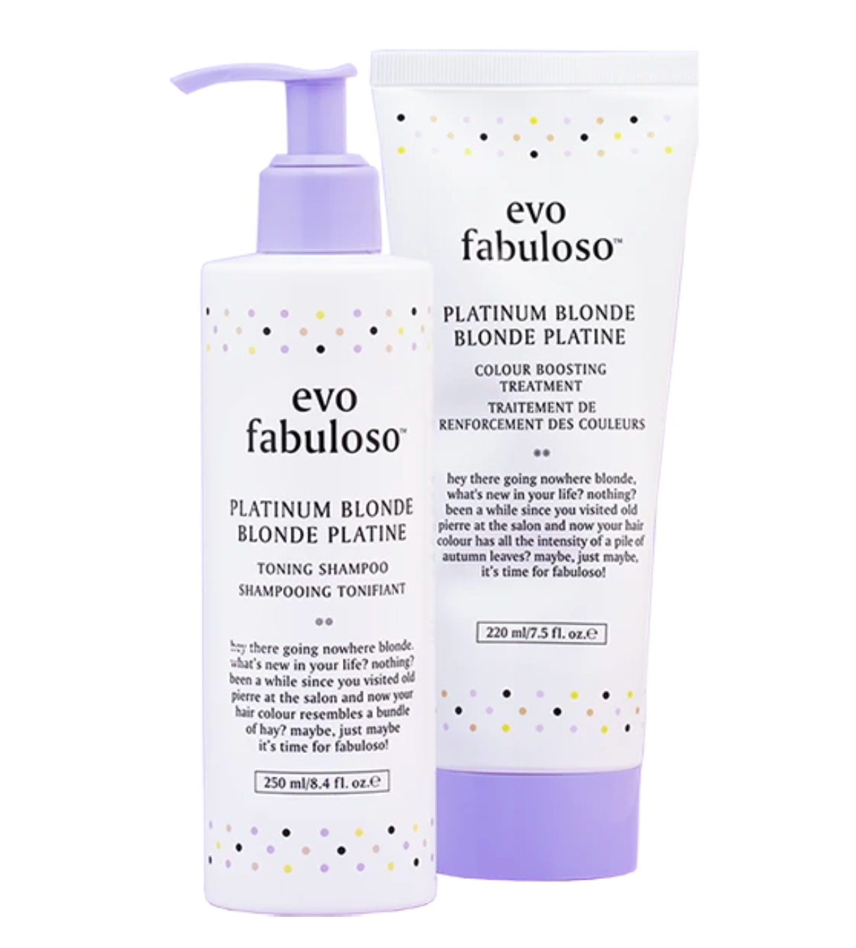 Platinum Blonde Toning Shampoo + Treatment Duo