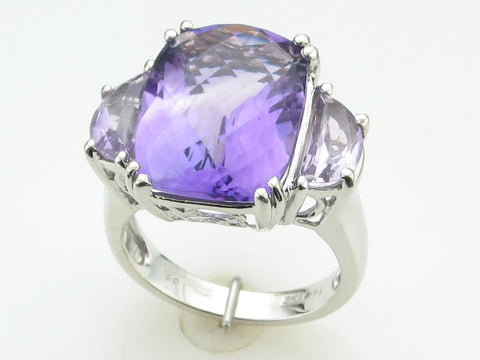Amethyst and Rose de France Ring