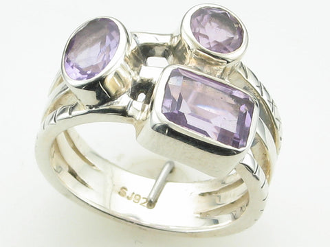 Amethyst Stackable Lookalike Ring