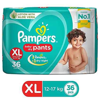 Pampers baby dry pants(XL)- 36 pieces