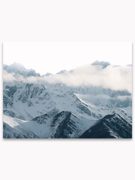 Winter Mountains No. 4 Printable Poster by Hello Emilie