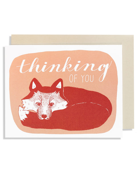 Thinking of You Fox Card