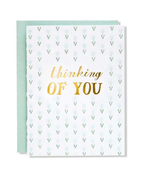 Thinking of You Floral Foil Card