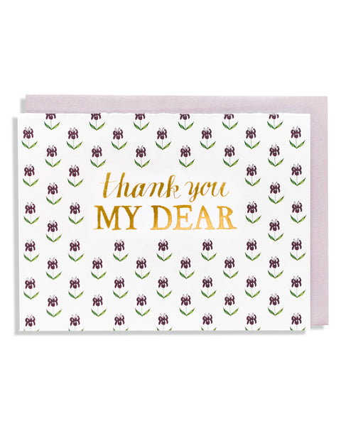 Thank You My Dear Floral Foil Card