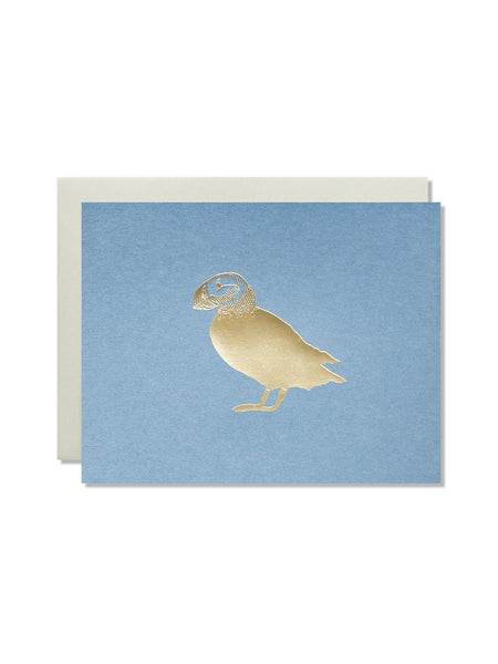 Puffin Gold Foil Card