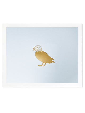 Puffin Gold Foil Art Print