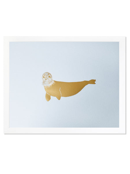 Seal Gold Foil Art Print