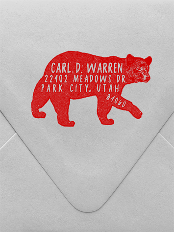 Bear Custom Stamp