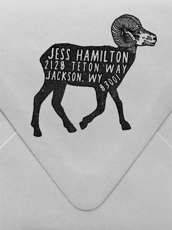Big Horn Sheep Custom Stamp