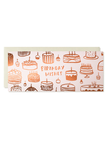 Birthday Wishes Copper Foil Card