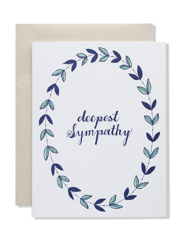 Deepest Sympathy Wreath Card